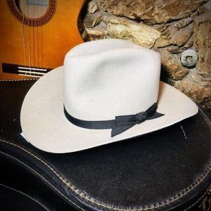 DeSind Men's Brown Faux Suede Wide Brim Cowboy Hat